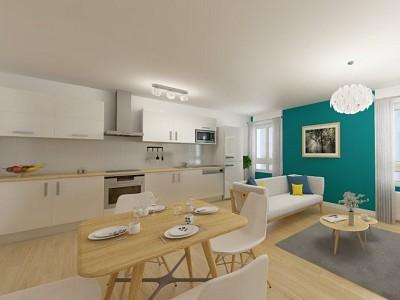 APPARTEMENT T3 A VENDRE - LOOS - 70 m2 - 190000 €